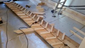 Bautreppe vorbereitet.
