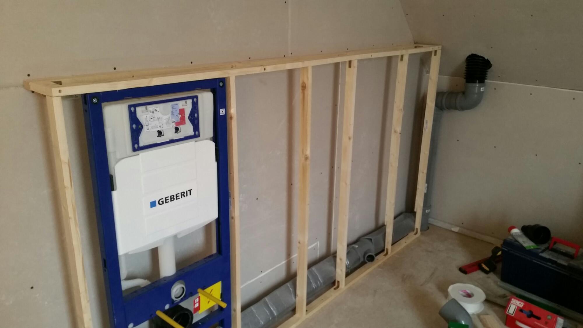 Wandnische Einbau Im Badezimmer Trockenbau Container Box .
